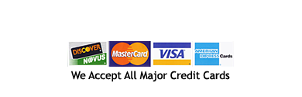 We Accept all major credit card sign